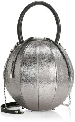 Nita Suri Pilo Volcanic Sphere Leather Top Handle Bag