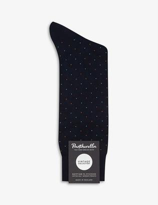Pantherella Pin dot cotton-blend socks