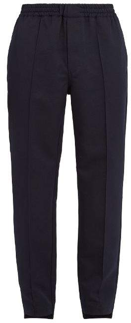 Marni Straight-leg pintuck trousers