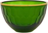 Oscar de la Renta Emerald Gallery Medium Glass Serving Bowl