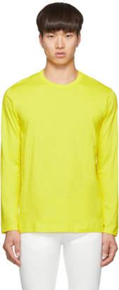 Comme des Garcons Yellow Logo Long Sleeve T-Shirt
