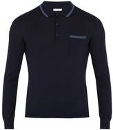 Boglioli Long-sleeved wool polo shirt