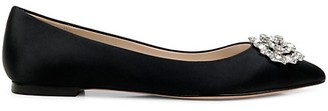 Badgley Mischka Davis Satin Flats