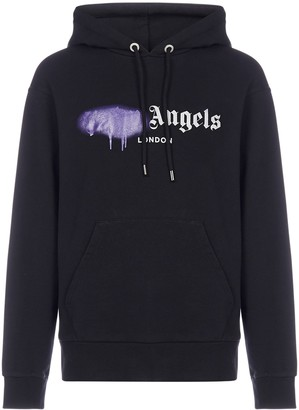 Palm Angels Sprayed Logo Hoodie