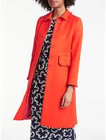 Boden Lena Frill Coat, Red Pop
