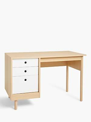 House by John Lewis Cube Storage Desk, Natural