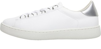 Karen Millen Womens Frida Winter Lace Leather Trainers White/Silver