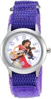 Disney Girl's 'Elena of Avalor' Quartz Stainless Steel and Nylon Automatic Watch, Color: (Model: W003040)