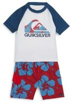Quiksilver Toddler's Rash Guard & Boardshorts Set