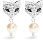 Miu Miu Cat crystal-embellished earrings