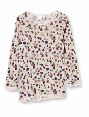 Name It Girls' NMFWANG Wool Needle LS TOP NOOS XX Longsleeve T-Shirt