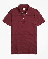 Brooks Brothers Slub Thin-Stripe Polo Shirt