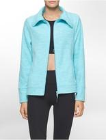 Calvin Klein Performance Heathered Polar Fleece Jacket