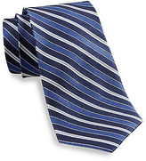 Rochester Textured Stripe Silk Tie Casual Male XL Big & Tall