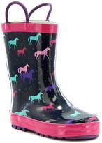 Western Chief Navy & Pink Horse Rain Boot