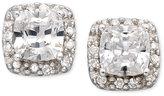 Sterling Silver Earrings, Cubic Zirconia Pave Stud Earrings (1-3/4 ct. t.w.)