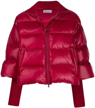 RED Valentino Cropped Sleeve Puffer Jacket
