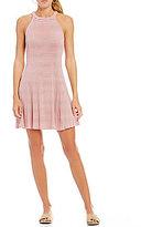 Copper Key Striped Sleeveless Swing Dress