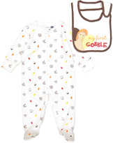 Vitamins Baby Ivory 'My First Gobble' Footie & Bib - Infant