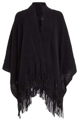 Dorothy Perkins Womens *Quiz Black Knitted Cape Features Shawl, Black
