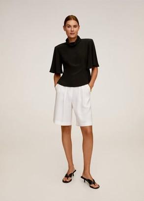 MANGO Flared sleeve blouse black - 4 - Women