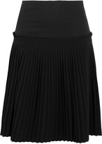 MM6 MAISON MARGIELA Pleated cotton and crepe skirt