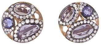 Selim Mouzannar Blue Sapphire and Diamond Moon Stud Earrings