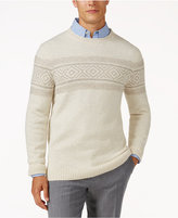 Tasso Elba Men's Wool Blend Pattern Sweater, Only at Macy's