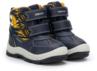 Geox Kids Tiger-Print Winter Boots