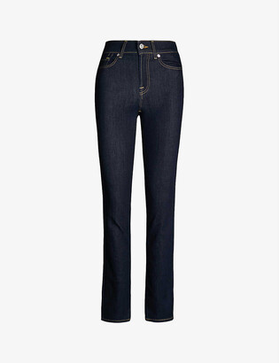 7 For All Mankind The Straight Bair high-rise jeans
