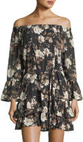 Collective Concepts Off-the-Shoulder Floral-Print Dress
