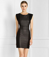 Paneled Boatneck Dress