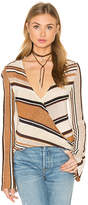 Goddis Cecilia V Neck Sweater in Beige. - size M/L (also in )