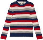 Gucci Striped cashmere crewneck sweater