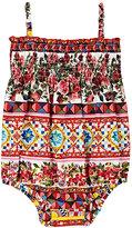 Dolce & Gabbana Mambo-Print Cotton Poplin Romper