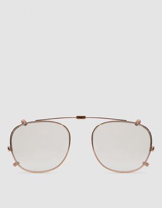Garrett Leight Kinney Clip 47 Sunglasses in Rose Gold/Dust Mirror