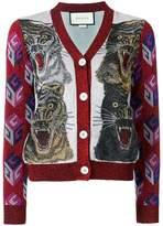 Gucci Tiger intarsia cardigan
