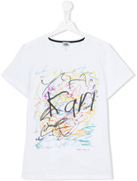Karl Lagerfeld scribble print T-shirt - kids - Cotton/Spandex/Elastane - 16 yrs