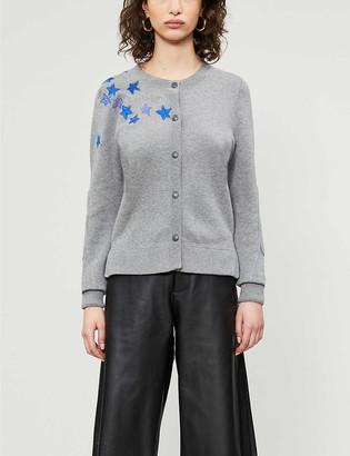 Zadig & Voltaire Star crystal-embellished cotton-blend cardigan