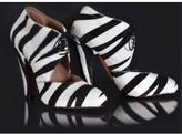 Azzedine Alaia pristine (PR) Alaia Zebra-Print Calf Hair Booties sz 38