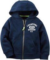 Carter's Zip Front Hoodie (Toddler/Kid) - Navy - 4T