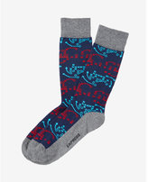 Express football plays printed dress socks