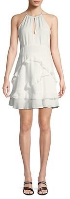 Parker Pheonix Ruffled Halter Dress