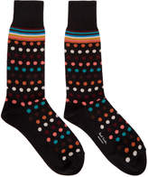 Paul Smith Black Polka Dot Artist Socks