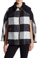 Cejon Turtleneck Plaid Cape