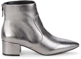 Karl Lagerfeld Paris Metallic Leather Booties