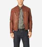 Cole Haan Vintage Leather Moto Jacket
