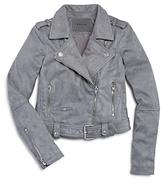 Blank NYC Blanknyc Girls' Faux Suede Moto Jacket - Big Kid