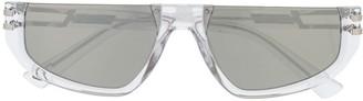 Diesel Clear Frame Rectangular Sunglasses