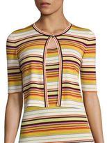 Akris Punto Multistriped Wool Cardigan